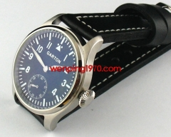 GARTON 47mm Black Dial Special@6 Blue Lume Hand Winding 6497  459