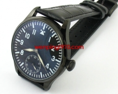 44mm PVD Case Black Dial Lume hand winding 6498 E508