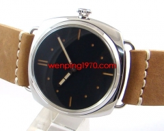 47MM 1950 Style Black Dial Swan Neck Watch M776-S
