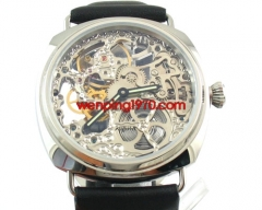 Parnis 45mm FULL SKELETON MECHANICAL WATCH 6497 E720
