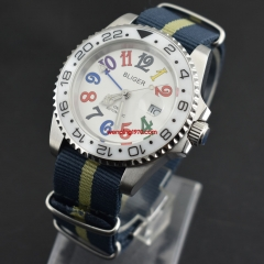 BLIGER 40mm Ceramic Bezel GMT Luminous sapphire automatic Date Day watch 2146