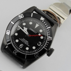 41mm Corgeut black bezel Sapphire Glass miyota 20ATM Automatic mens Watch 2084