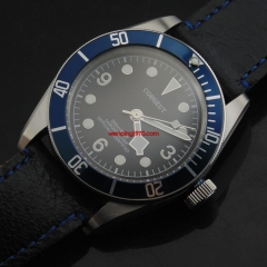 41mm Corgeut blue bezel Sapphire Glass miyota 20ATM Automatic mens Watch 2081