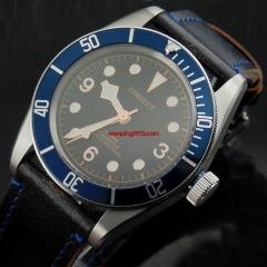41mm Corgeut blue bezel Sapphire Glass miyota 20ATM Automatic mens Watch 2083