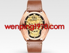 40mm Parnis sapphire Crystal rose gold case luminous new Novelty steel Automatic mens watch 2133