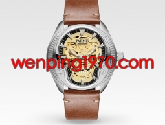 40mm Parnis sapphire Crystal sliver case luminous new Novelty steel Automatic mens watch 2132