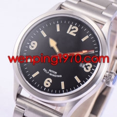 41mm Corgeut Sapphire Crystal Black Dial Miyota Automatic Date men Watch 1949-N