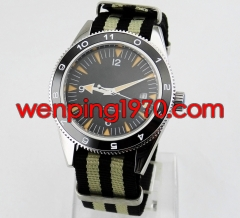41mm Debert sapphire glass Automatic Black Dial Mechanical Mens Wrist watch 1909-N