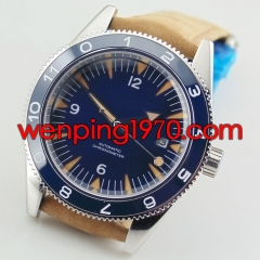 Debert 41mm deployment clasp blue dial miyota 821A Automatic mens Watch 2143-N
