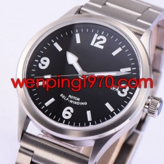 41mm Corgeut Sapphire Crystal Black Dial Miyota Automatic Men watch 1950-N