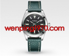 Parnis 40mm Black dial Green Strap Sapphire Crystal miyota Automatic watch 2043