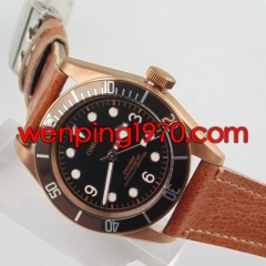 Corgeut 41mm Coffee bezel black dial Sapphire Glass Automatic mens Watch 2103