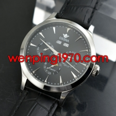 Ossna 41mm black Dial Steel Case Automatic Men's Date&Day Mechanical Watch 2165