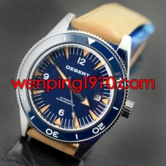 Debert 41mm Luminous Blue Dial sapphire glass MIYOTA 821A Automatic Watch 2251
