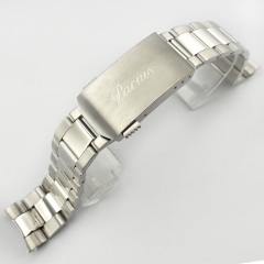 20mm Parnis stainless steel 316L solid bracelet brushed&polished watch band P741