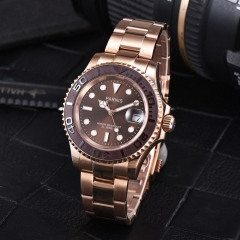 Parnis 41mm brown dial Rose golden case Miyota 8215 Automatic Date Watch 2488