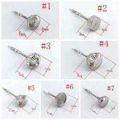 1PCS Stainless Steel Watch Crown+Stem Kit Fit ETA 6497/6498,Seagull ST36 P217