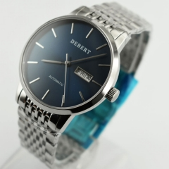 Debert 40mm Sapphire Glass Blue Dial Miyota Automatic Movement Wrist Watch 2558