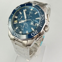 Pagani Design 47mm Blue Dial Chronograph Quartz Date Men Wrist Watch 2474
