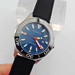 Planca 45mm blue dial black bezel Sapphire glass miyota 8215 Automatic Watch 2669