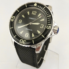 Corgeut 45mm Luminous Black Bezel Black Dial Miyota Automatic Wrist Watch 2671