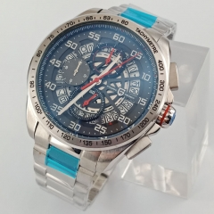 Pagani Design 44mm Chronograph Steel Case Date Quartz Men's Sport Wrist watches 2673