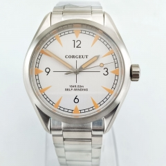 Corgeut Sapphire crystal Miyota 821A Automatic mens Watch steel bracelet 2867