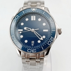 40mm Blue Dial Big Face Luminous Date Display MIYOTA 8215 Automatic Movement 2853