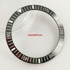 New 38mm Black quality ceramic rl x watch bezel insert for watch aftermarket replacement par P300-47#
