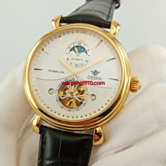 Ossna 45mm golden watch case white dial Automatic wrist watches 2878