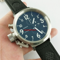 50mm Parnis Russian Military Style Chronograph Quartz mens Wrist watch E60