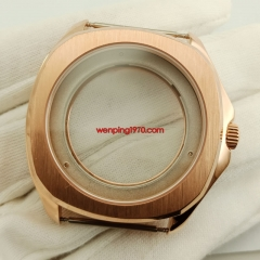40mm Rose Gold Sapphire Crystal watch Case fit ETA 2836 Miyota 8215 821A P913