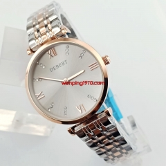 Luxury Quartz Lady/Women Battery Watch With Bracelet Light Gold Plated Case 2904