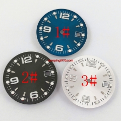 1PCS 31.5mm sterile blue black silver watch Dial Fit ETA 2836/2824 DG2813/3804 Miyota 8215 821A 8205 automatic movement P934-N