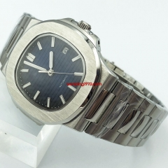 42mm sterile blue dial Sapphire glass steel watchband Date automatic watch 2948-N