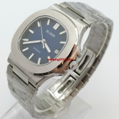 42mm bliger blue dial Sapphire glass steel watchband Date automatic watch 2948