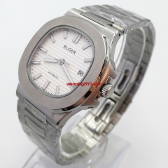 42mm bliger white dial Sapphire glass steel watchband Date automatic watch 2947
