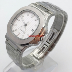 42mm sterile white dial Sapphire glass steel watchband Date automatic watch 2947-N