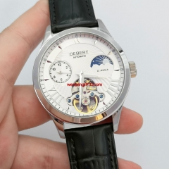 41mm DEBERT white dial 12 hours silver hands luxury automatic mens Watch 2957