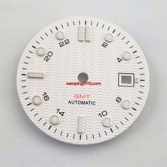 31mm sterile white watch Dial Fit ETA 2836/2824 DG2813/3804 Miyota 8215 821A P933N-3#