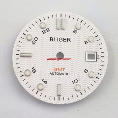 31mm BLIGER white watch Dial Fit ETA 2836/2824 DG2813/3804 Miyota 8215 821A P933-3#