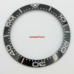 38mm black ceramic watch bezel insert for 40mm automatic watch P300-66#