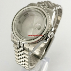 40mm unidirectional bezel Watch Case steel Bracelet with bezel Fit ETA 2836,DG2813/3804,Miyota 8205 8215 821A P961