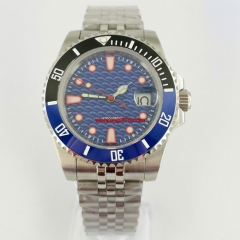 40mm sterile blue dial Jubilee steel strap sapphire glass automatic mens watch 3067N