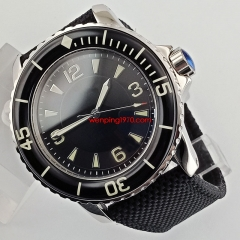 45mm sterile black dial super luminous marks Automatic mens watch 2671N