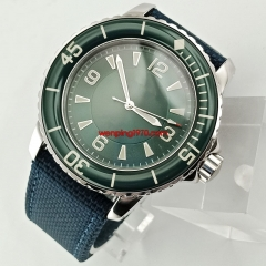 45mm sterile green dial super luminous marks Automatic mens watch 2670N