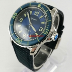 Corgeut 45mm Blue Dial Blue Bezel Luminous Automatic Wrist Watch 3085