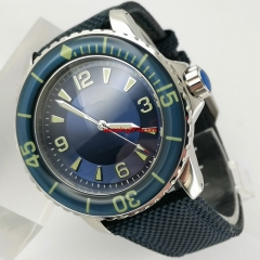 45mm sterile Blue Dial Blue Bezel Luminous Automatic Wrist Watch 3085N
