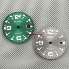 1PCS 31.5mm Bliger Green Gray watch Dial Fit ETA 2836/2824 DG2813/3804 Miyota 8215 821A 8205 automatic movement