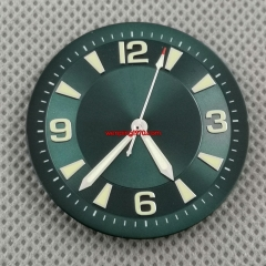 33.5mm sterile green Watch Dial with Hands fit Miyota 8215 821A DG2813 Movement